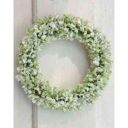 Corona artificiale di velo da sposa AGATHA, crema-verde, Ø15cm