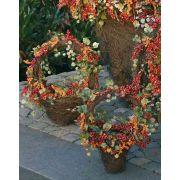 Cestino con frutti di bosco e foglie di vite, 30cm