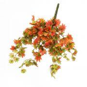 Rametto d'acero di imitazione ILJA, rosso-verde, 35cm