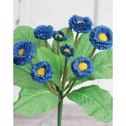 Margherite artificiali PEGGY su gambo, blu, 25cm