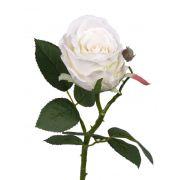 Rosa finta VRONI, bianco, 30cm, Ø6cm