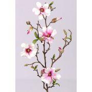 Ramo di magnolia artificiale MARGA, rosa-fucsia, 80cm, Ø6-8cm