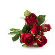 Mazzo di rose finte MOLLY, rosso, 30cm, Ø15cm