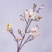 Ramo di magnolia artificiale LILO, bianco-rosa, 110cm, Ø5-9cm