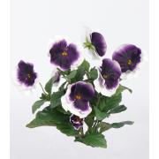 Viola del pensiero finta HILDE su gambo, lilla-bianco, 30cm, Ø8cm