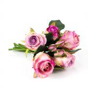 Mazzo di rose finte MOLLY, rosa antico, 30cm, Ø15cm