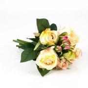 Mazzo di rose finte MOLLY, crema-rosa, 30cm, Ø15cm