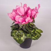 Ciclamino finto HEIDI in vaso decorativo, rosa, 25cm, Ø5-8cm
