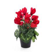 Ciclamino finto HEIDI in vaso decorativo, rosso, 25cm, Ø5-8cm