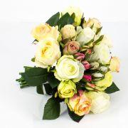 Mazzo di rose finte MOLLY, albicocca, 30cm, Ø25cm
