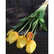Mazzo di tulipani artificiali LONA, arancione chiaro-verde, 45cm, Ø15cm