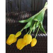 Mazzo di tulipani artificiali LONA, giallo-verde, 45cm, Ø15cm