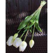 Mazzo di tulipani artificiali LONA, bianco-verde, 45cm, Ø15cm