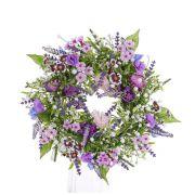 Ghirlanda artificiale FEDORA, lavanda, cicerchia, lilla, Ø30cm