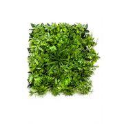Tappeto di erba schefflera artificiale ENZIO, zona trasversale, verde, 50x50cm