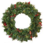 Corona di Natale artificiale BUKAREST, decorata, Ø60cm